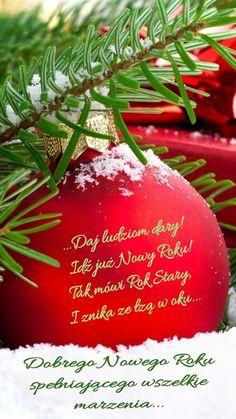 Kartka noworoczna 🥂🍷🍾🍬🍧🎀🎁💟🥂🍷🍾🍬 Christmas Bulbs, Holiday Decor, Cards, Christmas Light Bulbs, Maps, Playing Cards