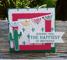 Oh Happy Day card kit, Stampin' Up! extra projects, Birthday Fiesta bundle, With a bow on top