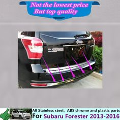 69.07$  Buy here - http://aliwz9.worldwells.pw/go.php?t=32720540774 - For Su6aru Forester 2013 2014 2015 2016 Car body cover protection Bumper stainless steel trim rear back tail bottom Around 1pcs 69.07$