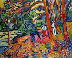 Maurice de Vlaminck was a French painter. Along with André Derain and Henri Matisse he is considered one of the principal figures in the Fauve movement, a group of modern artists who from 1904 to 1908 were united in their use of intense colour. Henri Matisse, Andre Derain, Raoul Dufy, Piet Mondrian, Fauvism Art, Maurice De Vlaminck, Georges Braque, Rene Magritte, Paul Gauguin