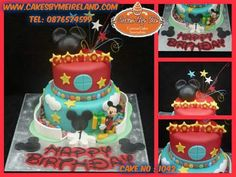 Conor had this Mickey Mouse Playhouse cake over the weekend to celebrate his Birthday....