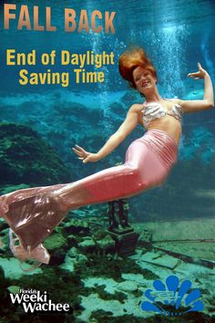 #Mermaid Amy enjoying that extra hour of sleep this morning after turning the clocks back last night for the end of Daylight Saving Time. Hope you remembered to 'Fall Back' one hour. #LoveFL
