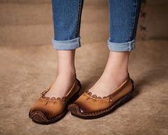 3 Colors Handmade ShoesOxford Women Shoes Flat Shoes von HerHis