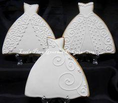 Wedding Gown Cookies Wedding Dress Cookie 12 Cookies | Etsy Bridal Gowns, Wedding Gowns, Wedding Dress Cookies, Flower Cookies, Organza Ribbon, Yes To The Dress, Birthday Cookies, Cookie Designs, Beautiful Hands