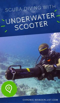 Diving with an Underwater Scooter in Bonaire. Check out my experience using an underwater scooter in the waters of Bonaire. This was quite the suba diving adventure. Best Scuba Diving, Scuba Diving Gear, Cave Diving, Maui Vacation, Mexico Vacation, Underwater Welding, Travel Through Europe, Sea Photography, Diving Equipment