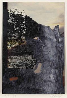 Gerhard Richter (German, b. 1932), Sils Maria (22.2.91), 1991. Oil on photograph, 14.7 x 10 cm.