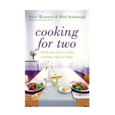 Cooking for Two Hardcover Cookbook | dotandbo.com