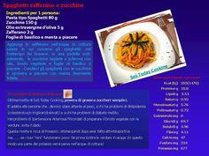 Leggerezza già dal primo piatto! Spaghetti zafferano e zucchine