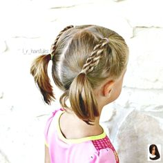 Hairstyles braids Rope braids into pigtails. Still keeping it pretty simple until I get the hang… Rope braids into pigtails. Still keeping it pretty simple until I get the hang… Little Girl Short Hairstyles, Short Hair For Kids, Girls Hairdos, Little Girl Braids, Baby Girl Hairstyles, Braids For Short Hair, Girls Braids, Short Hair Styles, Hair Dos For Kids