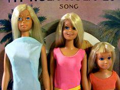 Malibu Barbie, Francie and Skipper Mattel Vintage 1971