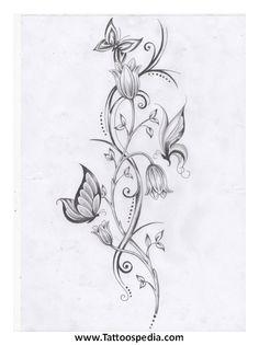 Lotus Flower Vine Tattoo 8