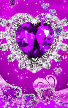 Bling Wallpaper, Pink Wallpaper Iphone, Heart Wallpaper, Love Wallpaper, Cellphone Wallpaper, Galaxy Wallpaper, Diamond Glitter, Glitter Hearts, Diamond Gemstone