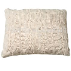 Jackson Knitted Pillow: Transforming your home into a haven of warmth, comfort, and style, this pillow is like your new best friend. Cotton sweater material in a natural shade.