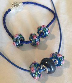 Necklace and Bracelet Set. Jewelry Set. Glass Beads. by HappyLilac