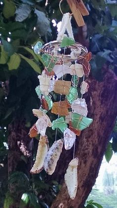 Small sea glass wind chime  8 by Kalikascardsandgifts on Etsy