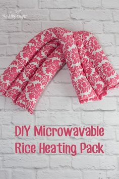 This DIY Microwavable Heating Pack heating pad is really easy to make and is great for relieving tension in backs and shoulders. #ad #StopPainNow