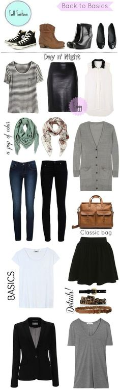 Great advice! How To Build A Basic Wardrobe For Fall #wardrobebasicsforfall