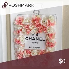Interested??🌸 I made this Chanel flower perfume bottle picture for my bedroom but many people have loved it and was super fun to make. I thought about making more and selling them but wondering if it would be something people on here were interested in? 🤔 Comment below 😊🌸❣️ Other