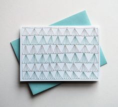 Hand Stitched Note Card with Envelope by SarahKBenning on Etsy, $8.00