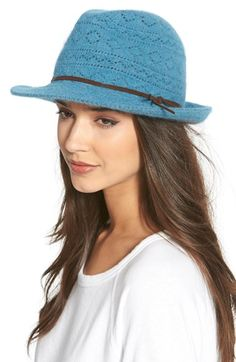 Collection XIIX Lace Knit Packable Fedora