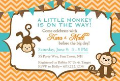 10 Best Best Monkey Baby Shower Invitations Design Images Baby