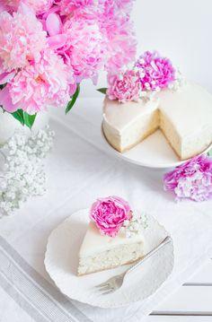 Sernik Piwoniowy Cheesecakes, Vanilla Cake, Cheesecake, Cherry Cheesecake Shooters