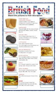 English worksheet: (set 2/8) BRITISH FOOD