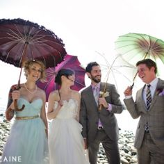 A DIY festival of a wedding ~ so many fabulous ideas & details in this stylish, modern / vintage wedding with a geeky twist.