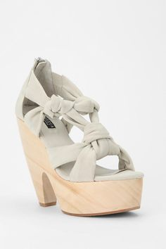 All tied up #urbanoutfitters #woodheel #sandal