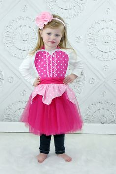 Sleeping Beauty  TUTU apron Aurora pink by loverdoversclothing