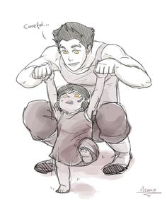 More Mako with daughter. Because he would a great father.@gracia fraile Gomez-Cortazar Fallon *-*'