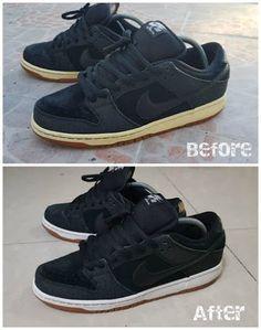 48409101adb Rewhitened Midsole Using Hortaleza s Developer Cream  12 Nike Sb
