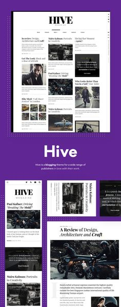 Personalize your site appearance and functionality without any coding skills or developer needed. Change fonts or colors and everything will be reflected live back to you. Hive is a great choice to give a pinch of you to your stories.