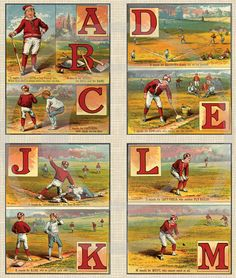 Old school baseball images. Sports fan or not, this would look great on a wall.