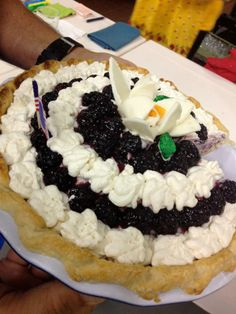 Ooops, we couldn't resist grabbing a slice of our delicious blackberry pie…- At the American Pie Council we have a love affair with pie!