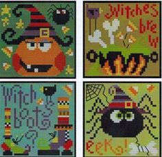 Halloween Ornaments - Cross Stitch Pattern