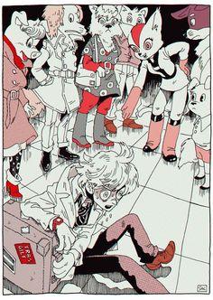 Stranger by Kaneoya Sachiko Psychedelic Art, Pretty Art, Cute Art, Art Sketches, Art Drawings, Manga, Arte Obscura, Arte Sketchbook, Bd Comics