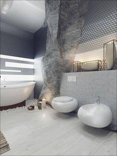 5 роскошных ванных комнат с высокой степенью детализации