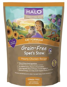Halo Spot's Stew Cat Formula Grain-Free Hearty Chicken recipe *** Learn more by visiting the image link.