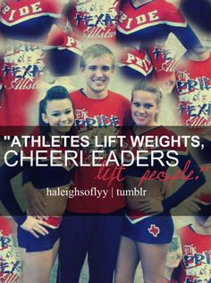 with out football players then us cheerleaders couldn't perform on halftime but without cheerleaders it just a game Cheer Qoutes, Cheerleading Quotes, Cheer Me Up, Cheer Bows, Cheer Stuff, Football Cheerleaders, Football Players, Cheer Banquet, Dangerous Sports