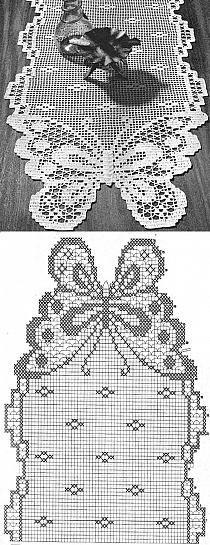 Knitting Charts Butterfly Crochet Motif 63 Ideas Knitting For BeginnersKnitting HumorCrochet Hair StylesCrochet Stitches Crochet Table Runner Pattern, Crochet Doily Patterns, Crochet Tablecloth, Crochet Motif, Crochet Designs, Crochet Doilies, Crochet Lace, Lace Tablecloths, Crochet Ideas