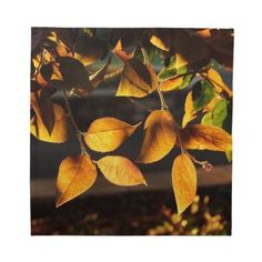 Autumn Afternoon Leaves Napkins by GameRoom