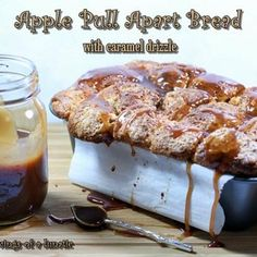Apple Pull Apart Bread with Caramel Drizzle Recipe