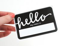 What's My Name Again? 13 Creative Name Tags via Brit + Co.