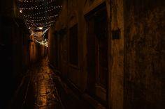 A alley in North Kolkata A narrow lane in North Kolkata with decorating lights on the top. Street December 14 2016 at Kolkata, Street Photography, December, Lights, Decorating, Top, Travel, Decor, Decoration
