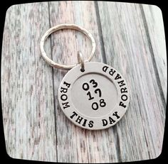 Sobriety Gift, From this Day Forward, Sobriety, Addiction Recovery Key Chain, Sobriety Date Key ring
