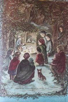 Creche in the woods from A Time to Keep: The Tasha Tudor Book of Holidays