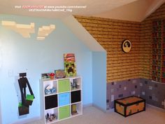 DIY Sponge Painted Minecraft Walls | Diy sponges, Sponge painting ...