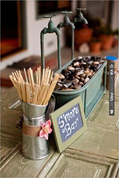 S'mores Bar | CHECK OUT MORE IDEAS AT WEDDINGPINS.NET | #weddingfavors