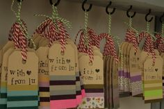 "Masking tape tags - really simple idea ("",)"